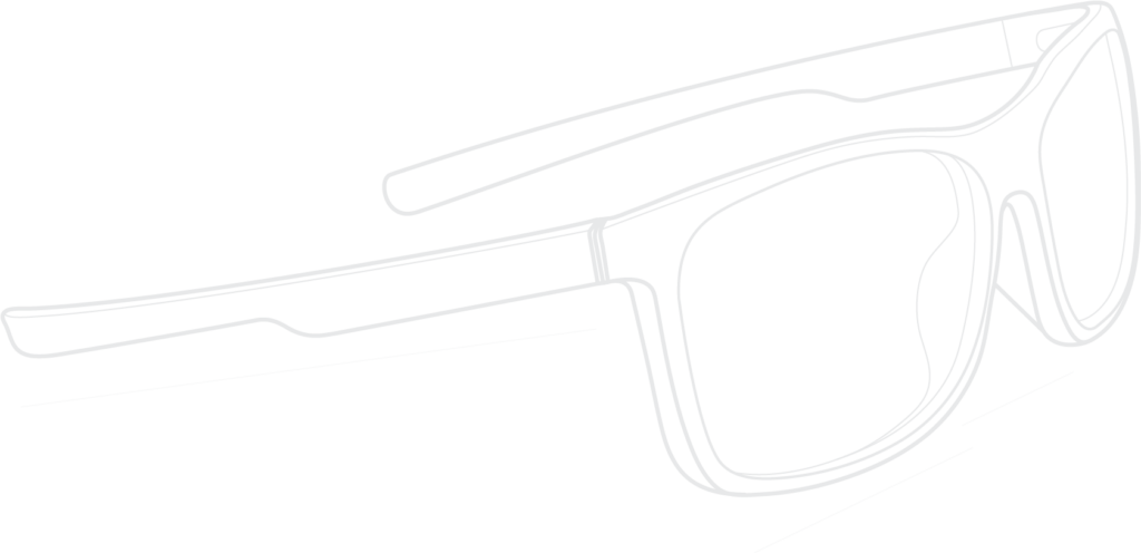 Measurement Diagram of AG Shrouds Gaming Glasses
