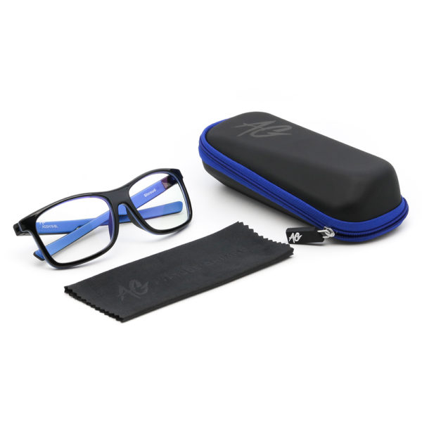 Blue Gaming Glasses Package