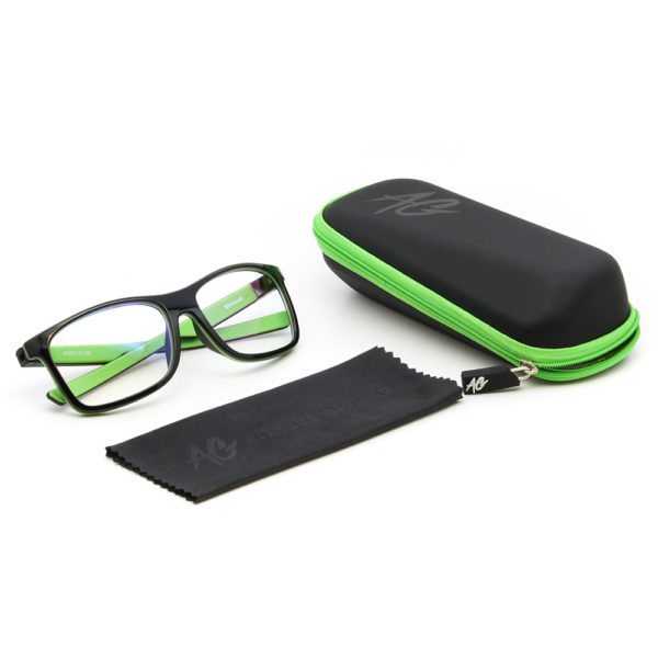 Green Gaming Glasses Package
