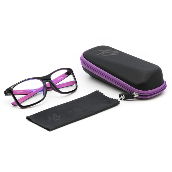 Purple Gaming Glasses Package